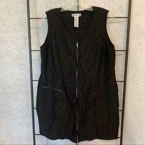 Jones & Co Zip Up Silk Linen Blend Vest. Size 14